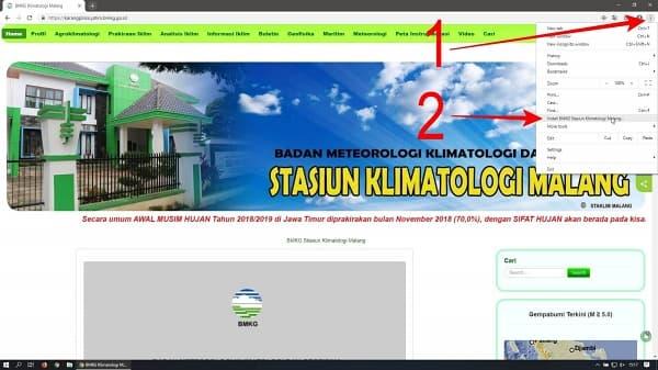 Kemudian klik sesuai urutan nomor pada gambar dibawah :